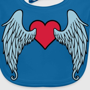 Angel Wings Heart Shirts - Bio-slabbetje voor baby's