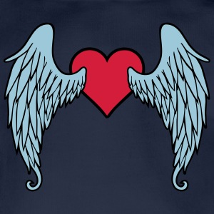 Angel Wings Heart Tee shirts - Body bébé bio manches courtes