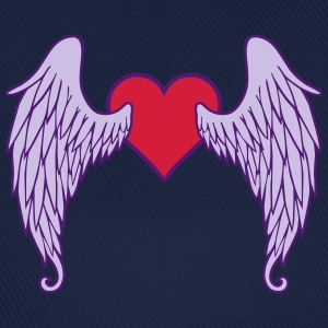 Angel Wings Heart T-shirts - Basebollkeps