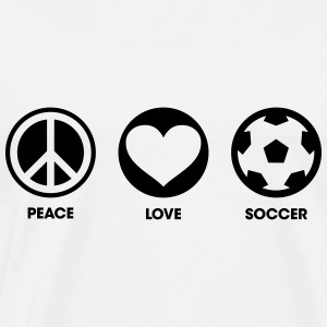 Peace Love Soccer Sweat-shirts - T-shirt Premium Homme