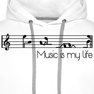 music is my life T-Shirts - Men's Premium Hoodie