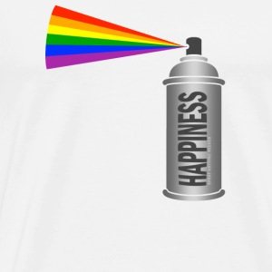 Happiness Spray  Rainbow Knappar - Premium-T-shirt herr