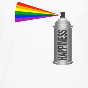 Happiness Spray  Rainbow Buttons - Mannen Premium shirt met lange mouwen