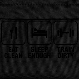 Eat Clean, Sleep Enough, Train Dirty Magliette - Zaino per bambini