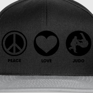 Peace Love Judo Tee shirts - Casquette snapback