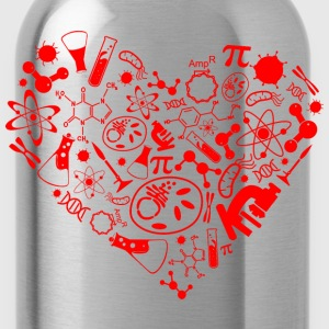 Science heart T-Shirts - Water Bottle