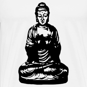 buddha black Bottles & Mugs - Men's Premium T-Shirt