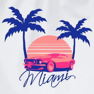 Mus Miami Beach Palms Logo Design T-Shirts - Drawstring Bag