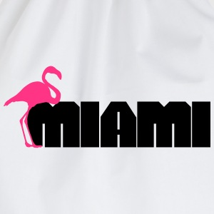 Miami Flamingo T-Shirts - Drawstring Bag