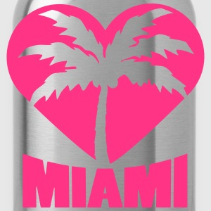 I Love Miami Palm Heart Logo T-Shirts - Water Bottle