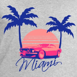 Mus Miami Beach Palms Logo Design T-Shirts - Men's Sweatshirt by Stanley & Stella