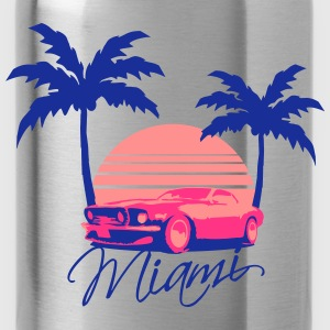 Mus Miami Beach Palms Logo Design T-Shirts - Water Bottle