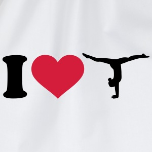 I love Gymnastik Turnen T-Shirts - Turnbeutel
