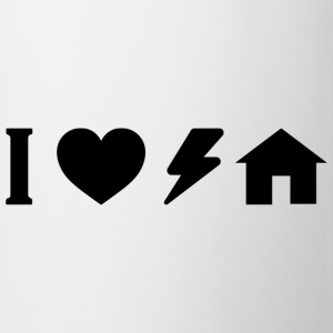 I love electro house.png Camisetas - Taza