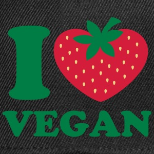 Vegan, organic, heart strawberry, love, like, eco  - Snapback Cap