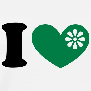 I heart organic green food, love, like, vegan, eco - Men's Premium T-Shirt