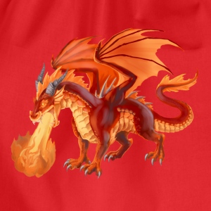 fire dragon T-Shirts - Turnbeutel