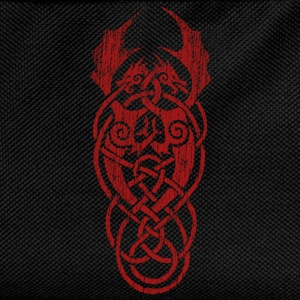 celtic dragon red - Kids' Backpack