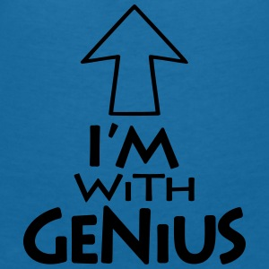 Im with Genius v1 (1c) Accessories - Women's V-Neck T-Shirt