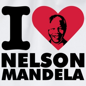 White I love Nelson Mandela T-Shirts - Drawstring Bag