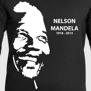 Black Nelson Mandela Portrait T-Shirts - Men's Sweatshirt by Stanley & Stella