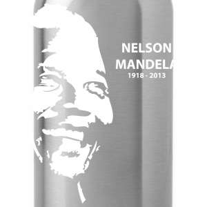 Black Nelson Mandela Portrait T-Shirts - Water Bottle