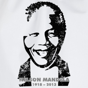 White Nelson Mandela Portrait T-Shirts - Drawstring Bag