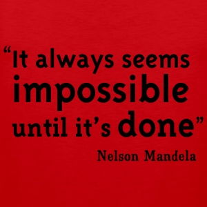 Red Nelson Mandela Quote T-Shirts - Men's Premium Tank Top