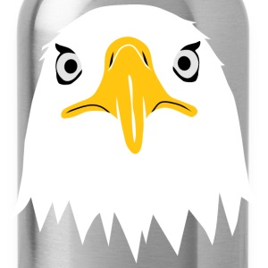 bald eagle head eyes beak T-Shirts - Water Bottle