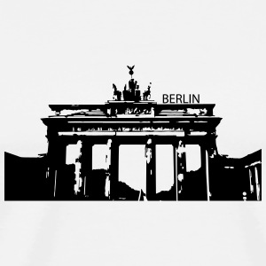 Berlin Tasse (orange/orange) / Brandenburger Tor - Männer Premium T-Shirt