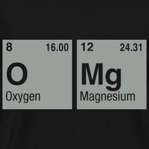 OMg written with Elements of the Periodic Table Hoodies & Sweatshirts - Men's Premium T-Shirt