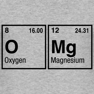 OMg written with Elements of the Periodic Table Hoodies & Sweatshirts - Men's Slim Fit T-Shirt