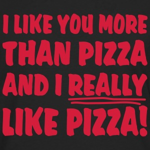 I like you more than Pizza and I really like Pizza - Männer Premium Langarmshirt