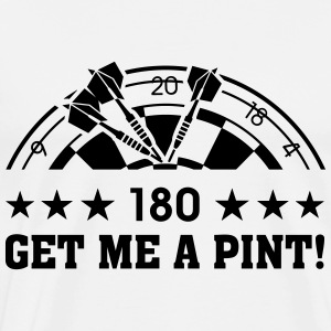180 Darts. Get me a Pint! Dart Dartboard Sports Hoodies & Sweatshirts - Men's Premium T-Shirt