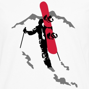 freerider snowboard Tee shirts - T-shirt manches longues Premium Homme