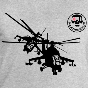Helicopter Mi-24 T-Shirts - Men's Sweatshirt by Stanley & Stella