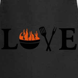 I love Barbeque Grill Grilling Chef BBQ T-Shirts - Cooking Apron