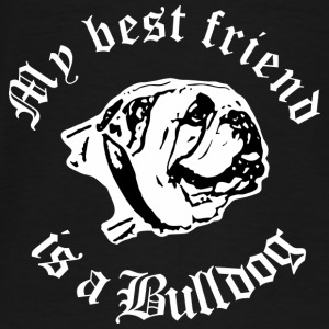 best friend english bulldog Pullover & Hoodies - Männer Premium T-Shirt