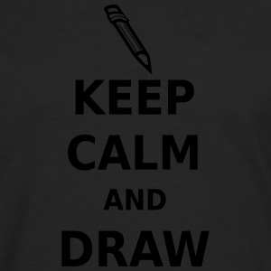 Keep Calm and Draw T-Shirts - Men's Premium Longsleeve Shirt
