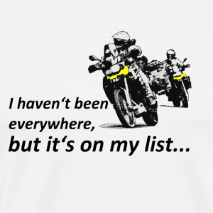 Dualsport it's on my list (two riders) Long Sleeve Shirts - Men's Premium T-Shirt