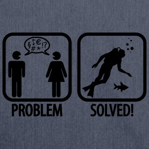 Scuba Diving: Problem - Solved! T-shirts - Skuldertaske af recycling-material