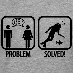 Scuba Diving: Problem - Solved! Pullover & Hoodies - Männer Premium Langarmshirt