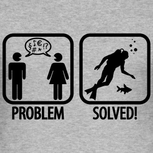 Scuba Diving: Problem - Solved! Hoodies & Sweatshirts - Men's Slim Fit T-Shirt