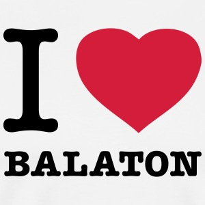 I ♥ BALATON  Aprons - Men's Premium T-Shirt