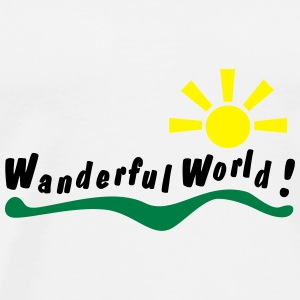 wanderful world Flaskor & muggar - Premium-T-shirt herr