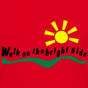 walk on the bright side Tröjor - T-shirt herr