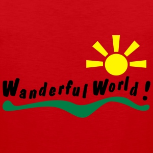 wanderful world T-shirts - Herre Premium tanktop