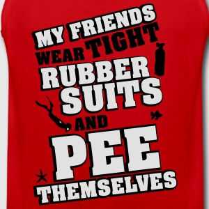 Diving: My friends wear tight rubber suits T-shirts - Premiumtanktopp herr
