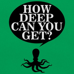 How deep can you get? T-Shirts - Retro Tasche