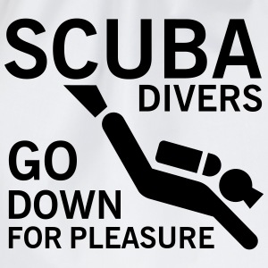 Scuba divers go down for pleasure T-shirts - Gymtas